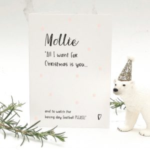 mollie all i want for christmas card