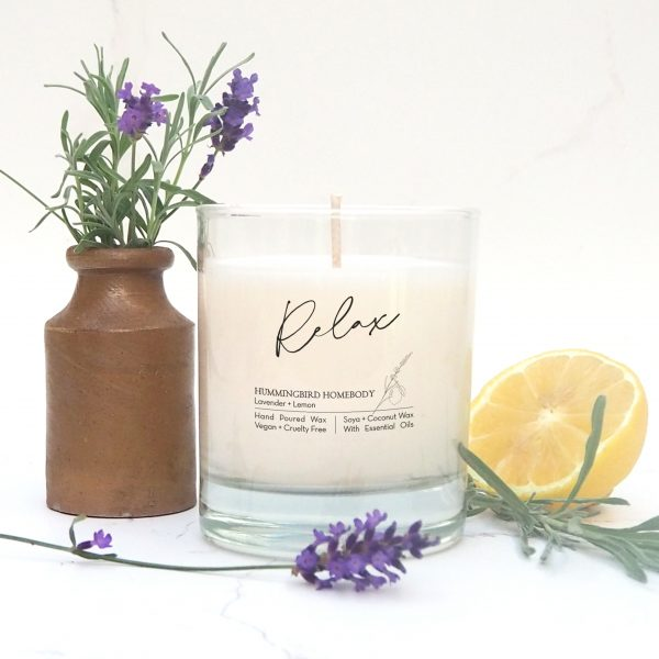 Relax lavender and lemon candle