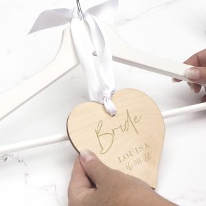 bride wooden hanging name