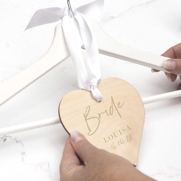 bride wooden hanging name